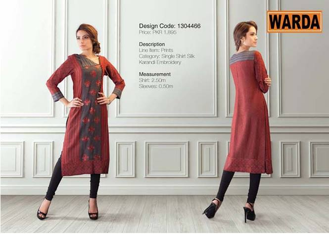 WARDA Designer Ready To Wear Dresses Winter Grace Collection 2014-15 for Women (8)