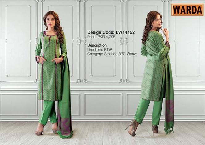 WARDA Designer Ready To Wear Dresses Winter Grace Collection 2014-15 for Women (9)