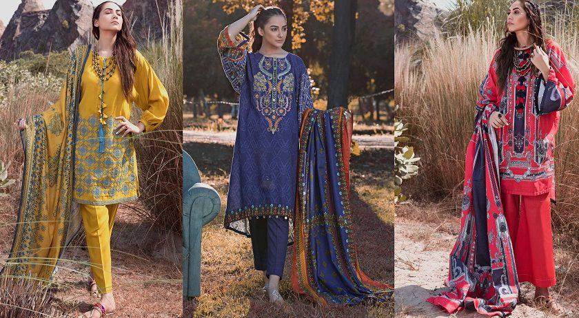 Woolen Silk SUITS- WARDA Latest Women Designer Winter Dresses 2018-2019