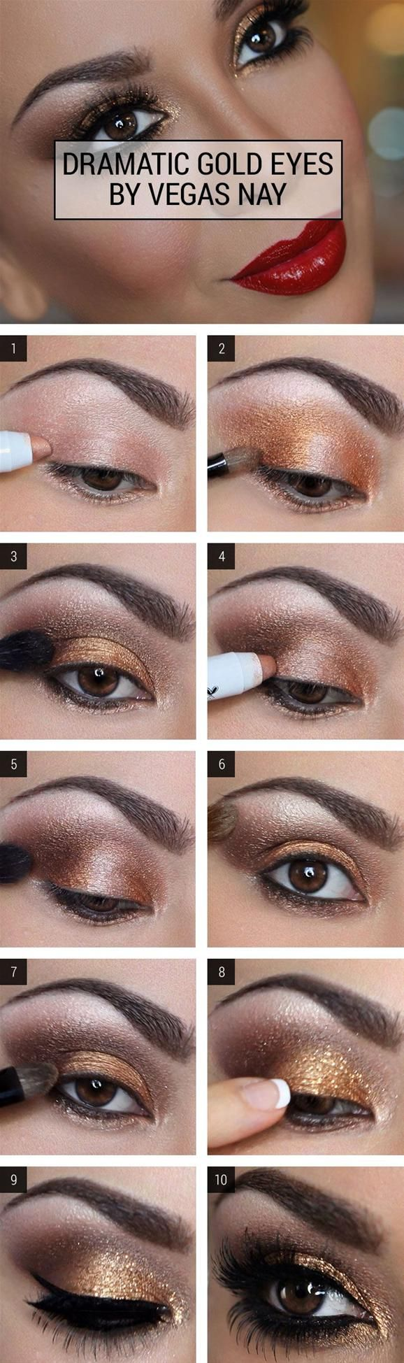 Best Smokey Eye Make-up Step By Step Tutorial and Ideas with Pictures (11)