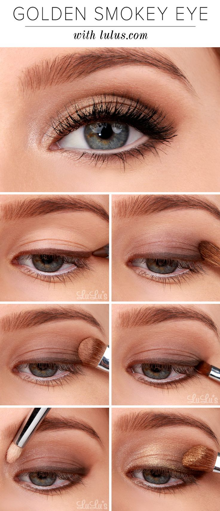 Best Smokey Eye Make-up Step By Step Tutorial and Ideas with Pictures (1)