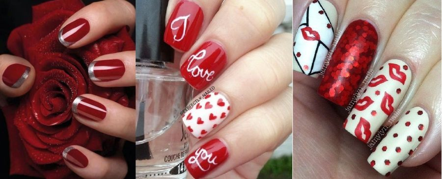 Best and Romantic nail art designs for valentines day