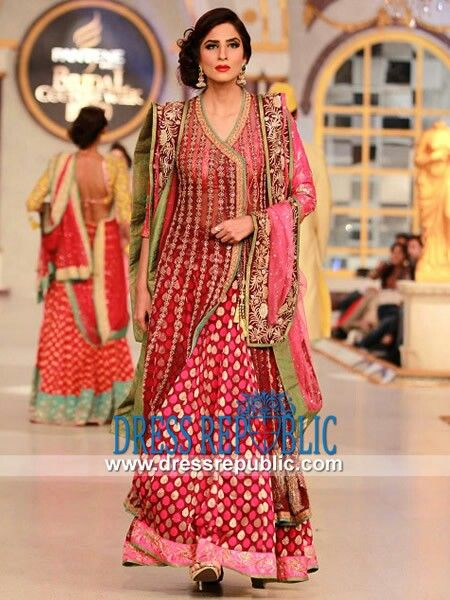 Fancy Bridal Wear Angrakha Style Dresses & Gowns Designs 2015-2016 (9)