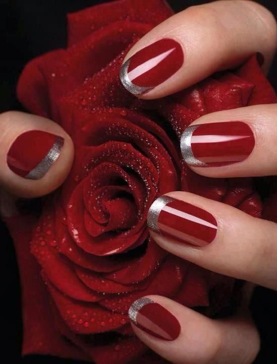 Floral Nail Arts Best and Romantic nail art designs for valentines day (5)