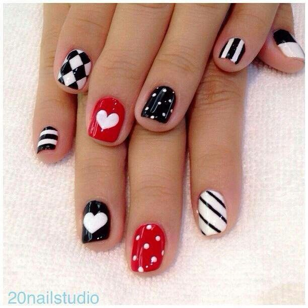 French Tip nail arts- Best & Romantic Nail Art Designs & Ideas for Valentines Day (4)