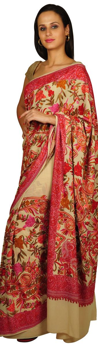 Kashmiri Hand Embroidered Shawls Designs Collection for Women (11)