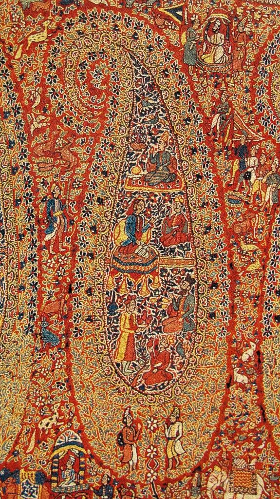 Kashmiri Hand Embroidered Shawls Designs Collection for Women (18)