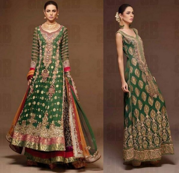 Latest Designs Of Wedding Gowns: Party Wear & Wedding Lehenga Designs 2016-2017 Collection