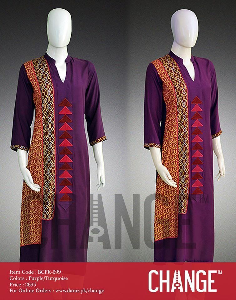 Latest Women Trendy & Stylish Kurta designs by Change Kurta Collection 2015-2016 (16)