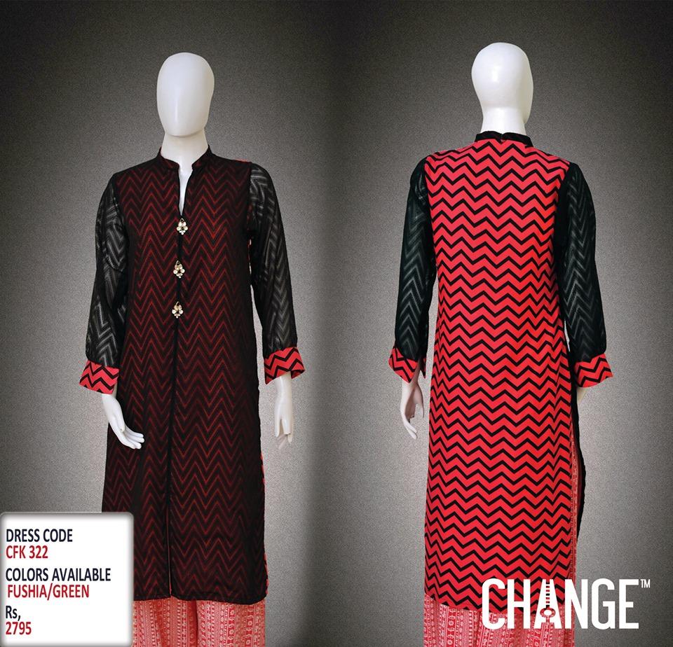 Latest Women Trendy & Stylish Kurta designs by Change Kurta Collection 2015-2016 (17)
