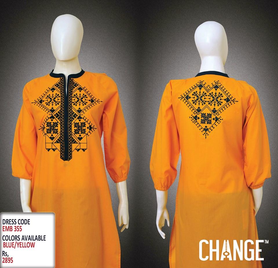 Latest Women Trendy & Stylish Kurta designs by Change Kurta Collection 2015-2016 (23)