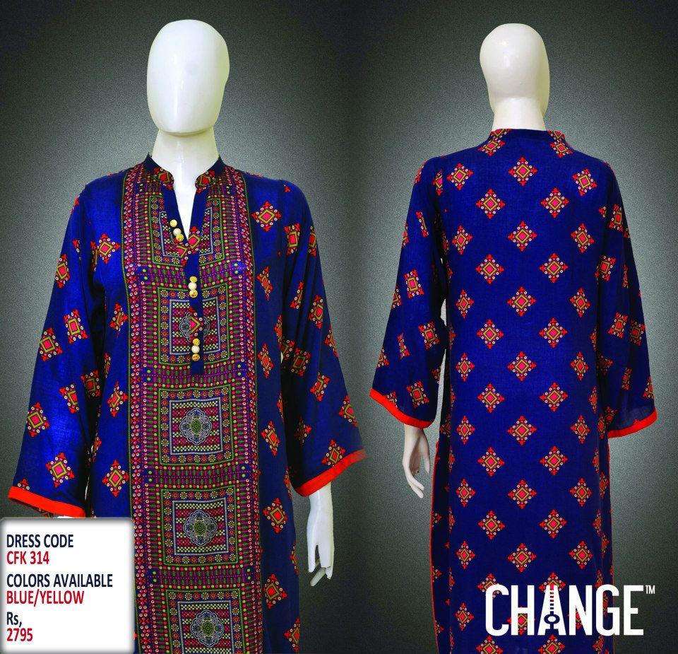 Latest Women Trendy & Stylish Kurta designs by Change Kurta Collection 2015-2016 (25)