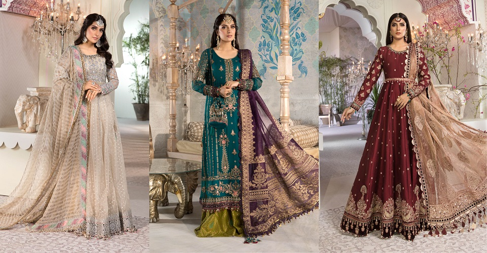 Maria B EMbroidered Fancy Suits Heritage Collection 2021