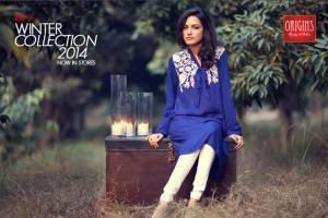Origins Women Best Winter Shawl Dresses Fall Collection 2015