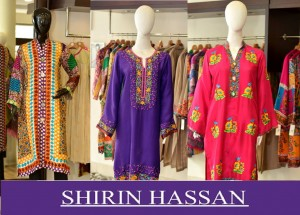 Latest Digital Printed Suits and Kurtis 2016-17 by Shirin Hassan