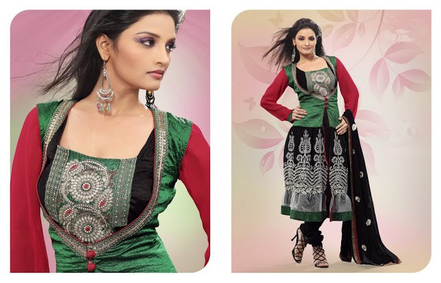 Stylish Plaine & V Shaped with Bann Neck Designs for Casual Kurta Dresses (10)