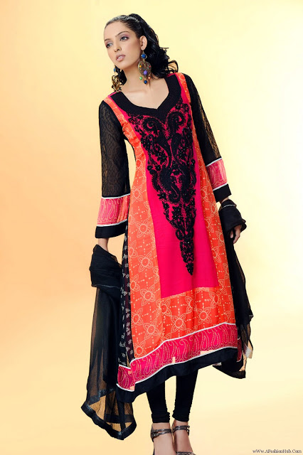 Stylish Plaine & V Shaped with Bann Neck Designs for Casual Kurta Dresses (16)