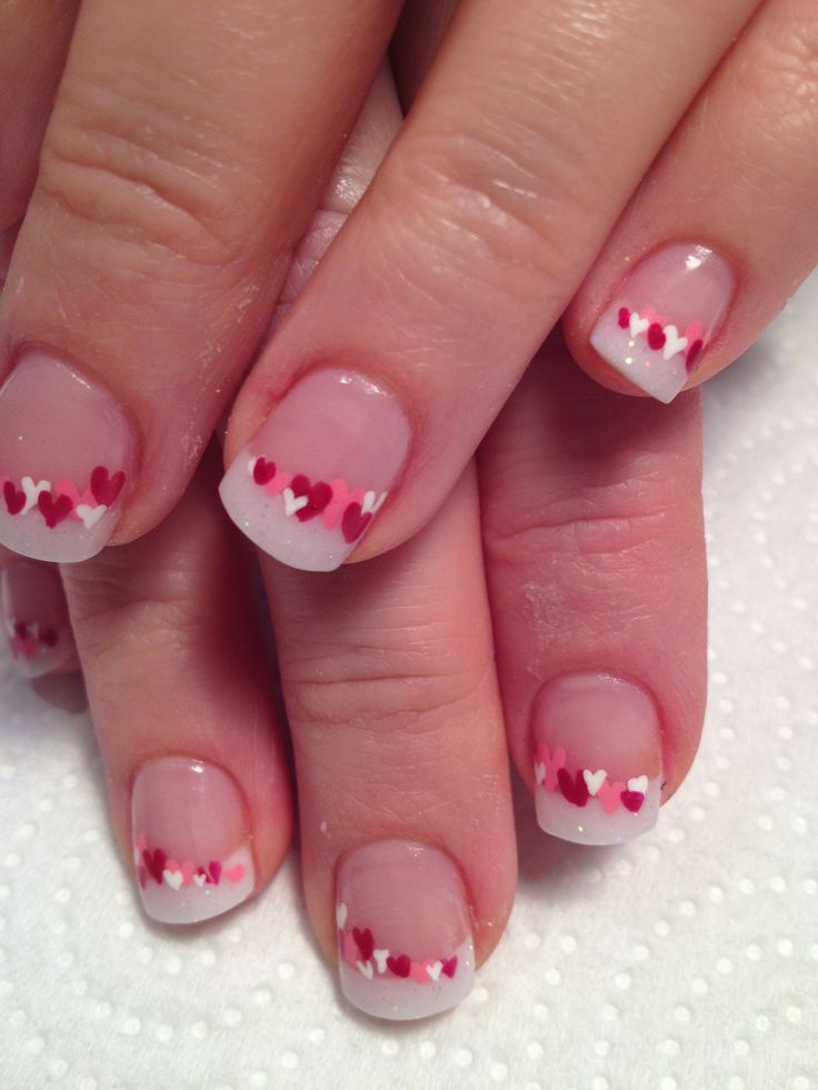 Sweet candy hearts Best & Romantic Nail Art Designs & Ideas for Valentines Day (1)