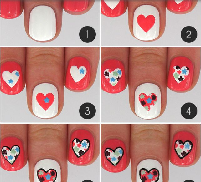 Nail Art Design Ideas 15 super easy nail art ideas that your friends will think took you hours minqcom Sweet Candy Hearts Best Romantic Nail Art Designs Ideas For Valentines