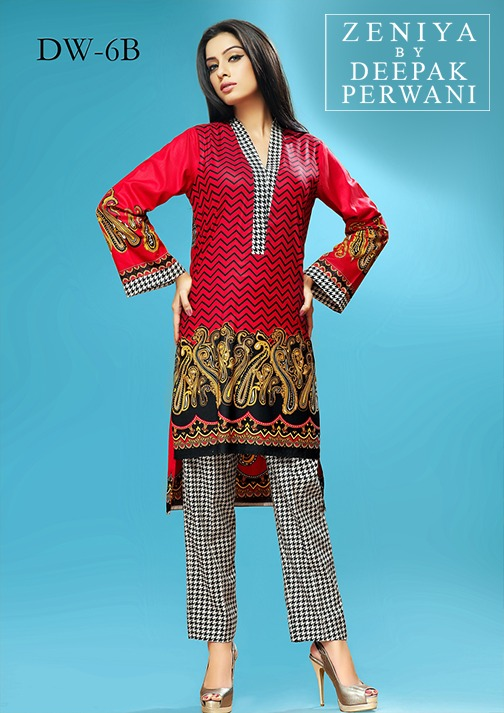 Zeniya by Deepak Perwani Winter Shawl Dresses for Women Collection 2014-15 (15)