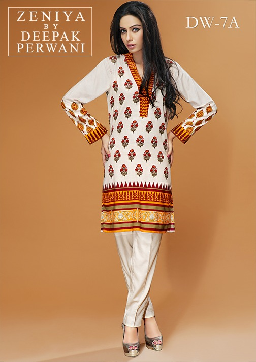Zeniya by Deepak Perwani Winter Shawl Dresses for Women Collection 2014-15 (21)