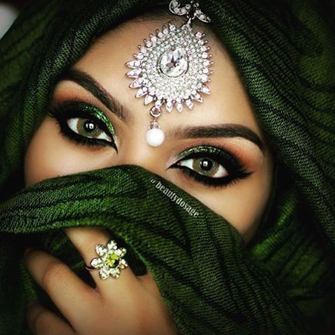 Arabic Bridal Party Wear Makeup Tutorial Step by Step Tips ... Arabian Women Eyes