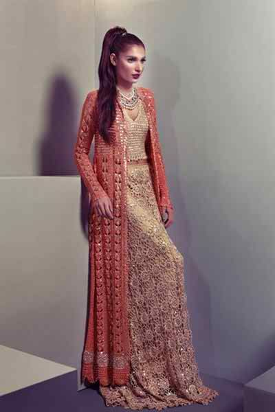 3f8a6cc51687 Latest Collection of Asian Designer Front Open Double Shirt Dress Designs  2015-2016 (10)