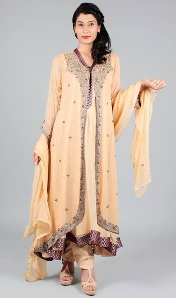 93f730872b Latest Collection of Asian Designer Front Open Double Shirt Dress Designs  2015-2016 (23)