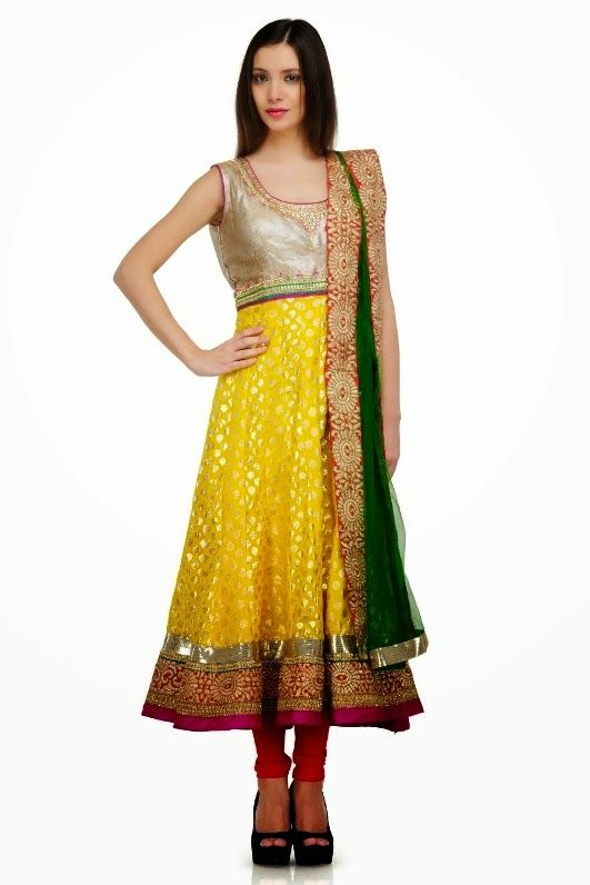 Latest Collection of Umbrella Dresses & Frocks Designs 2015-2016 (10)