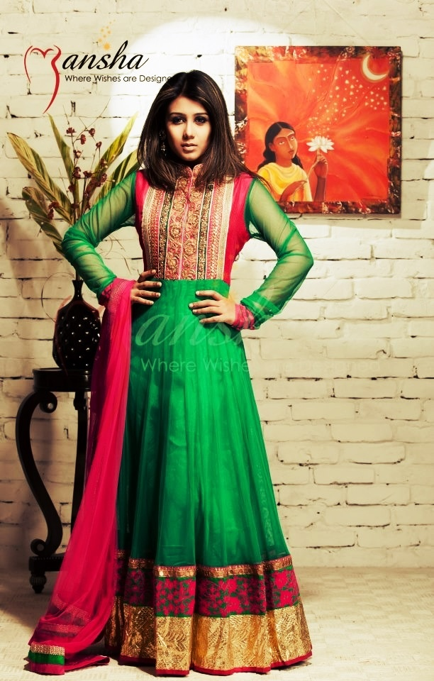 Latest Collection of Umbrella Dresses & Frocks Designs 2015-2016 (18)