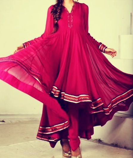 Latest Collection of Umbrella Dresses & Frocks Designs 2015-2016 (19)