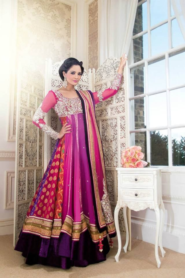 Latest Collection of Umbrella Dresses & Frocks Designs 2015-2016 (25)