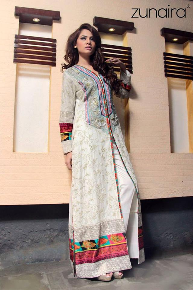 Latest Pakistani Party wear Dresses for Women by Zunaira Lounge Formal Collection 2015-16 (1)