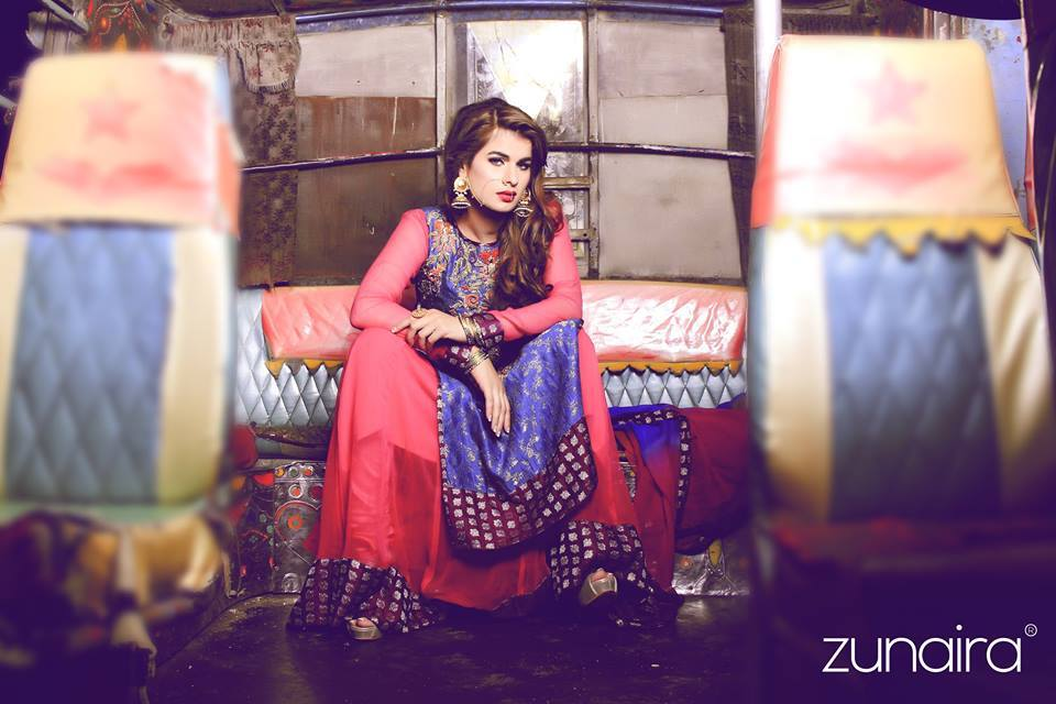 Latest Pakistani Party wear Dresses for Women by Zunaira Lounge Formal Collection 2015-16 (10)