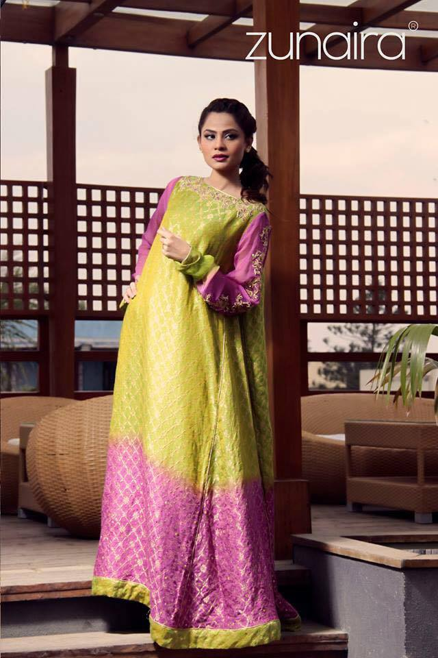 Latest Pakistani Party wear Dresses for Women by Zunaira Lounge Formal Collection 2015-16 (12)