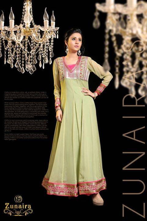 Latest Pakistani Party wear Dresses for Women by Zunaira Lounge Formal Collection 2015-16 (13)