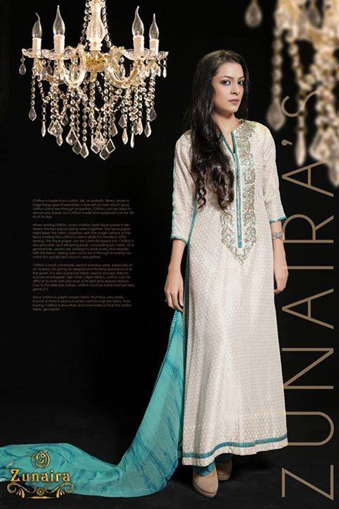 Latest Pakistani Party wear Dresses for Women by Zunaira Lounge Formal Collection 2015-16 (14)