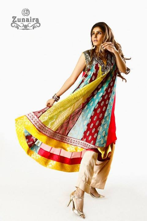 Latest Pakistani Party wear Dresses for Women by Zunaira Lounge Formal Collection 2015-16 (18)