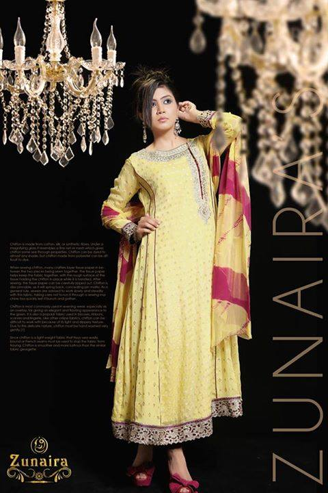 Latest Pakistani Party wear Dresses for Women by Zunaira Lounge Formal Collection 2015-16 (19)