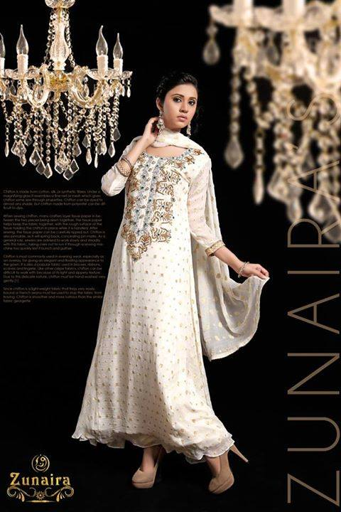 Latest Pakistani Party wear Dresses for Women by Zunaira Lounge Formal Collection 2015-16 (2)