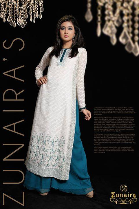 Latest Pakistani Party wear Dresses for Women by Zunaira Lounge Formal Collection 2015-16 (21)