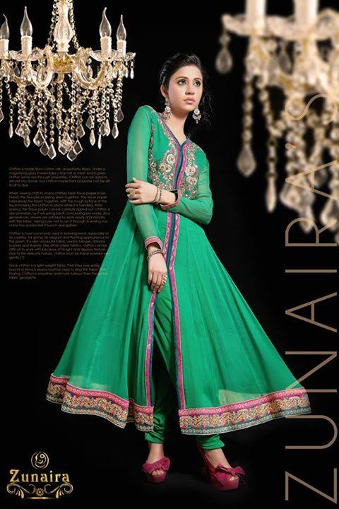 Latest Pakistani Party wear Dresses for Women by Zunaira Lounge Formal Collection 2015-16 (23)