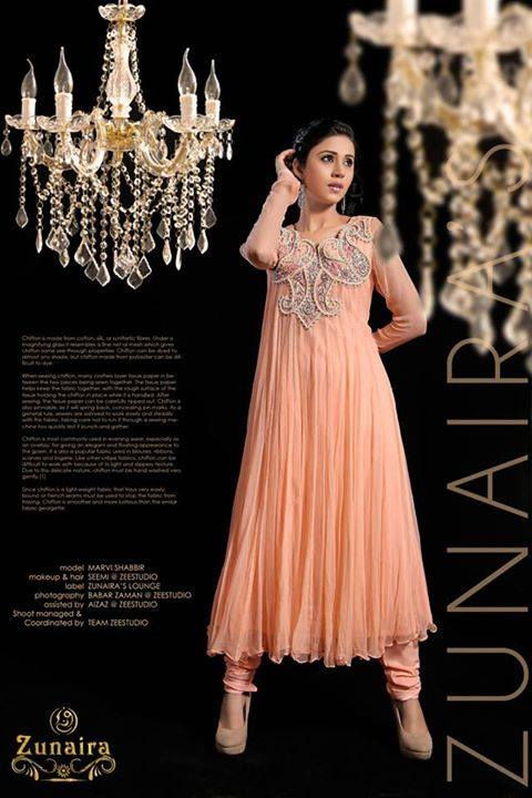 Latest Pakistani Party wear Dresses for Women by Zunaira Lounge Formal Collection 2015-16 (25)