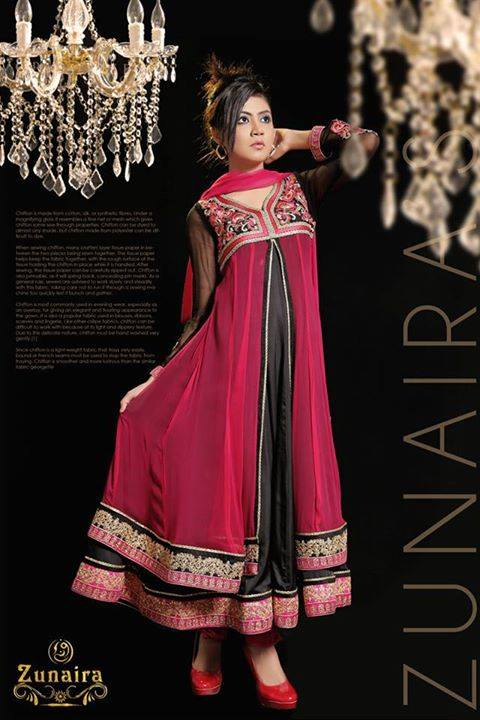 Latest Pakistani Party wear Dresses for Women by Zunaira Lounge Formal Collection 2015-16 (26)