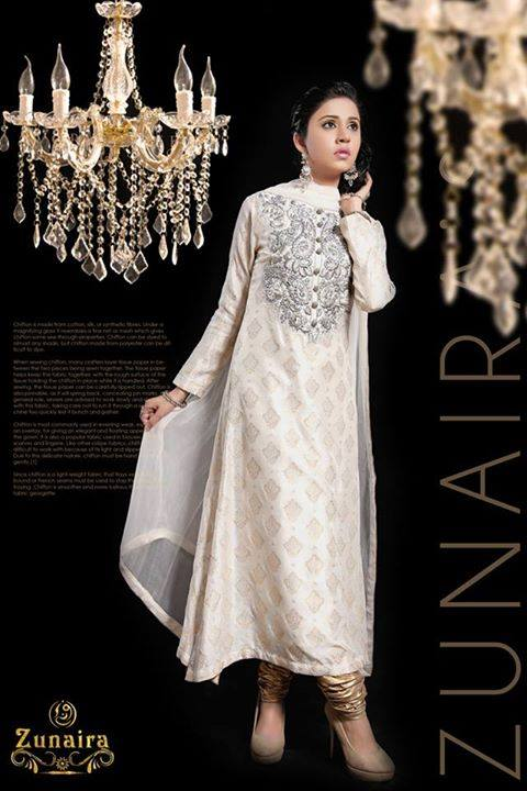 Latest Pakistani Party wear Dresses for Women by Zunaira Lounge Formal Collection 2015-16 (3)