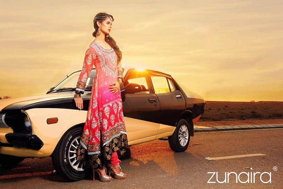 Latest Pakistani Party wear Dresses for Women by Zunaira Lounge Formal Collection 2015-16 (4)
