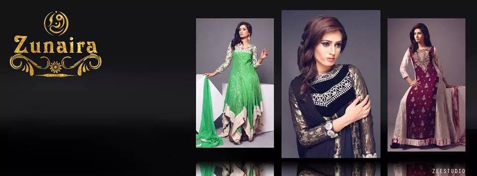 Latest Pakistani Party wear Dresses for Women by Zunaira Lounge Formal Collection 2015-16 (6)