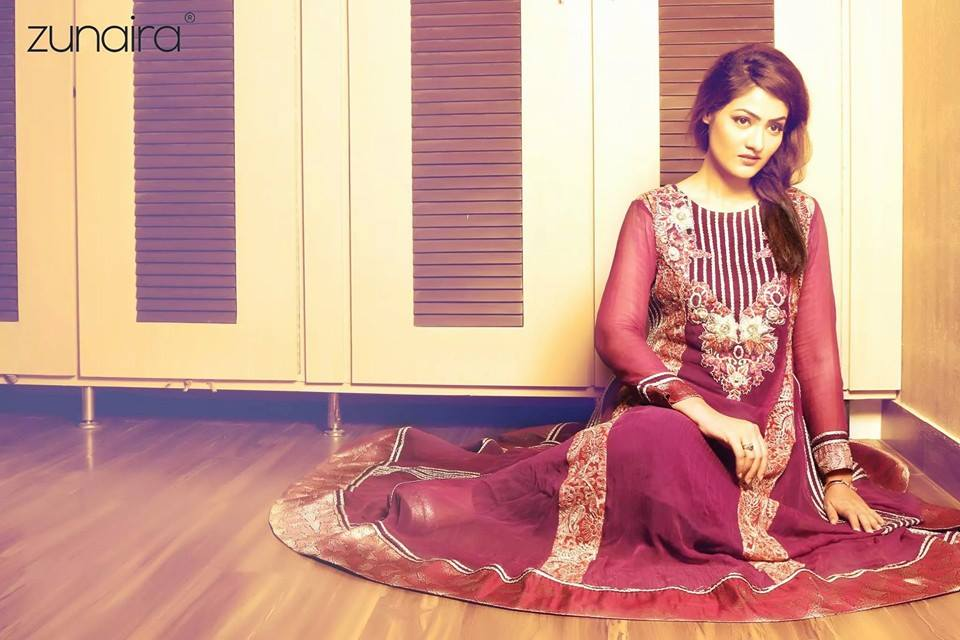 Latest Pakistani Party wear Dresses for Women by Zunaira Lounge Formal Collection 2015-16 (9)