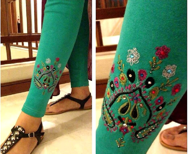 Latest Styles & Designs of Women Printed Embroidered Tights, Leggings & Capri Collection 2015-2016 (16)