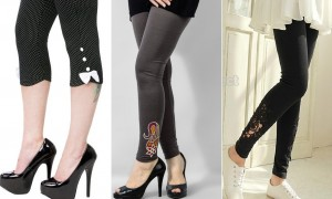 Latest Designs of Tights, Capri Pants & Leggings Printed Embroidered Collection for Girls